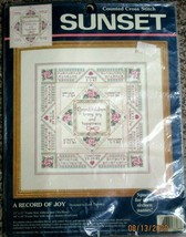 Sunset A Record Of Joy Counted Cross Stitch Kit #13617 Vintage Sealed 1996 - $28.68