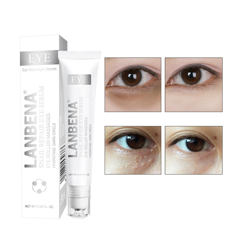 Snail Repair Eye Serum Dark Circle Anti-Puffiness Anti-Aging Whitening Snail Eye