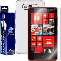 ArmorSuit MilitaryShield Nokia Lumia 820 Screen + White Carbon Fiber Skin! - $32.99