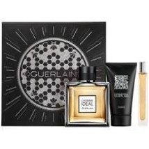 Guerlain L'Homme Ideal Cologne 3.4 Oz Eau De Toilette Spray 3 Pcs Gift Set image 3