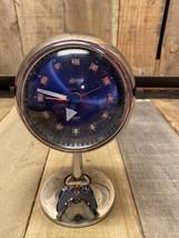 Vintage Space Age Linden Japan Wind Up Alarm Clock Blue Silver Face Glow... - $186.07