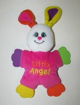 Little Tikes baby plush pink bunny rabbit security blanket Teether Littl... - $12.86