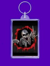 keyring double sided breaking out skeleton design, keychain