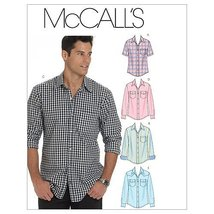 McCall's Patterns M6044 Men's Shirts, Size XM (SML-MED-LRG) - $14.21