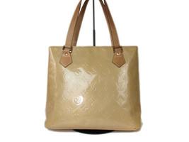 Authentic LOUIS VUITTON HOUSTON Beige Patent Leather Tote Bag Shoulder Bag - $199.00