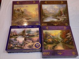 Thomas Kinkade Jigsaw Puzzle NOT Counted AS IS Sea of Tranquility Lot Mountain + - $59.99