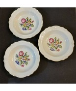 Homer Laughlin Coupe Soup Bowl LOT Petit Point Virginia Rose Cunningham ... - $39.58