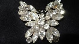 Vintage D&E Juliana Butterfly Crystal Rhinestone Brooch - $99.00