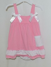 I Love Baby Pink White Sun Dress Ruffle Bloomers Size 100cm 3 to 4 Year Old image 1