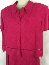 Karin Stevens Womens Sleeveless Red Sleeveless Dress W/ Matching Jacket ... - $26.68