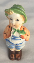 Vintage Japan Hummel like figurine boy porcelain - $13.00