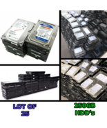 """Lot of 25 - 250GB 3.5"""" HDD's (TESTED) Mixed Brands SATA Desktop Hard Drive - $199.99"""