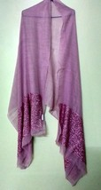 Sequins Work Pink Stole Scarf Shawl Neck Wrap Gift + 1 Pc Complementary - £28.96 GBP