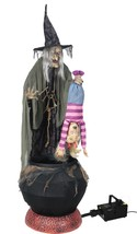 Stew Brew Witch 6' Prop W/ Hanging Kid Animated W/ Fog Lifesize Halloween - €214,12 EUR
