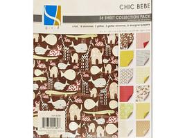 GCD Studios 8x8 Inch Chic Bebe Cardstock Pad, 36 Sheets #289