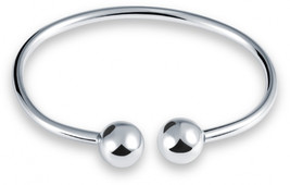 Hot 925 Sterling Silver Smooth Beads Bracelet for Women bracelets weddin... - $53.79