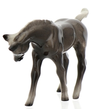 Hagen-Renaker Miniature Ceramic Horse Figurine Silver Black Morgan Colt image 9