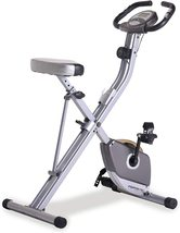 Folding Magnetic Upright Exercise Bike with Pulse,Adjustable to Fit,LCD Display  - $399.99