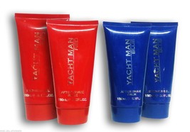 Myrurgia Yacht Man Shower Gel After Shave Balm Duo Blue Red French Brand Lot x4 - $18.65