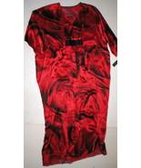 NWT New Designer Josie Natori M Caftan Night Gown Womens Silk Red Black ... - $942.50