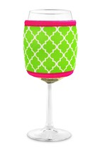 Joe Jacket Wine Glass Insulator, Neoprene Sleeve Drink Holder - Lime Mor... - $10.65