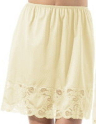"Primary image for Half Slip, Beige 24"", Beautiful Lace Size 2X  NWT"