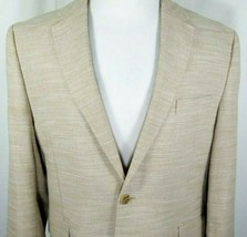 Joseph Abboud Mens Sport Coat Size XXL 2XL 100% Cotton Beige Tan Two Button - $37.18
