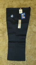 "DICKIES Girls Junior Navy Uniform Capri Sz 17 Boot Cut Waist 38"" x Insea... - $14.80"
