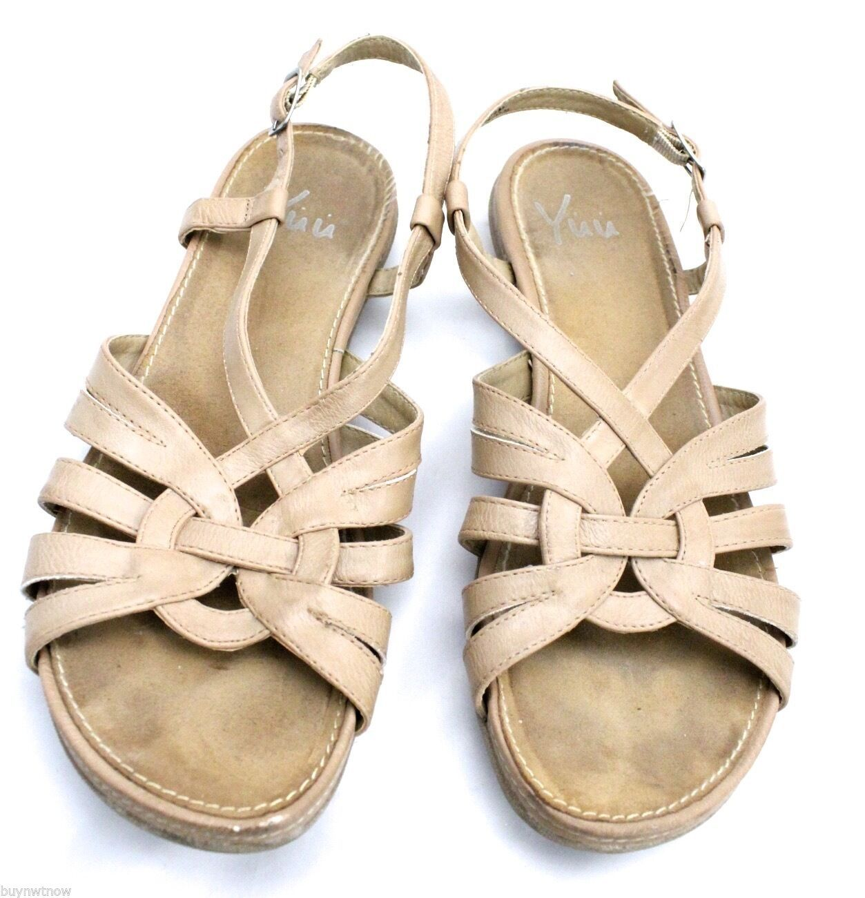 WOMEN'S YUU Alcan Sling-Back Sandals Nude 8.5 M Pre-owned