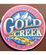 $2.50 Casino Chip. Gold Creek, Cripple Creek, CO. V32. - $5.50