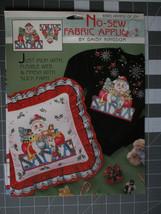 Daisy Kingdom No Sew Fabric Applique Armful Of Joy Santa #6363 - $4.89