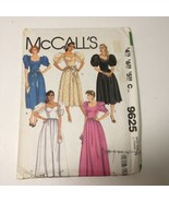 McCall's 9625 Size 16 Misses' Dress and Half Slip - $11.64