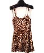 "MORGAN TAYLOR INTIMATES LEOPARD ANIMAL PRINT LINGERIE SIZE SMALL 24""L - $8.99"