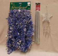 LOT 8 CHRISTMAS HOLIDAY DECORATIONS GARLAND BEADS STAR - $13.85