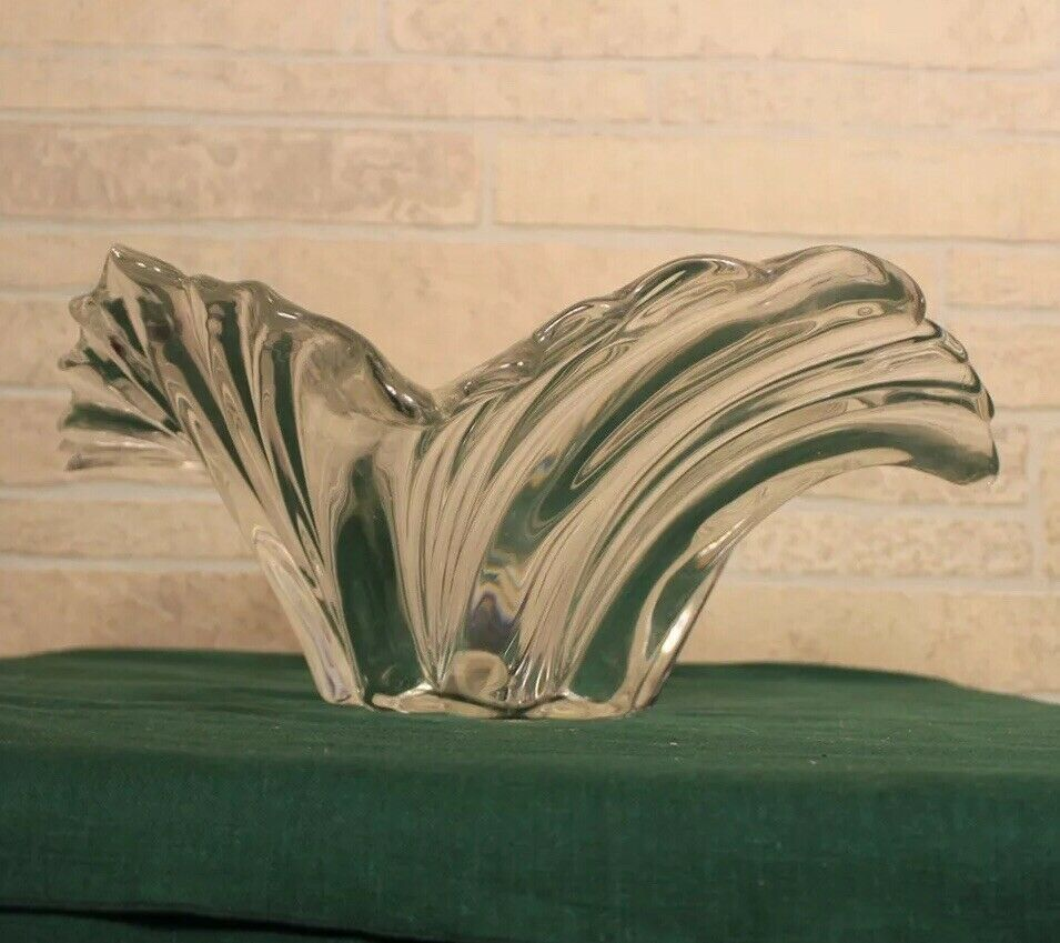 Primary image for Vtg huge Mikasa Swirl Crystal center piece Epoque Belle Hollywood regency style