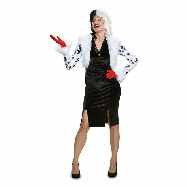 Disguise Cruella De Vil 101 Dalmatiner Delxue Erwachsene Halloween 67494