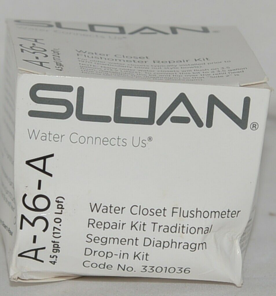Sloan Water Closet Flushometer Repair Kit Traditional Segment Diaphragm Drop In