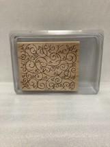 Stampin' Up Soft Swirls 1 Piece Rubber Stamp 2002 - $14.01