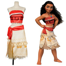 Moana Adventure Corset Princess Cosplay Costume Dress Party Outfit Gown Skirt - $75.78+