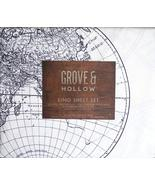 Grove & Hollow Old World Globe Map Style Black/White Microfiber Sheet Se... - $72.00