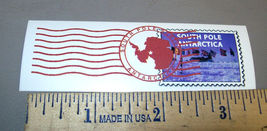 South Pole Antarctica collectors postal stamp sticker, unique collectibl... - $6.00