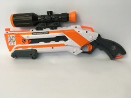 Roughcut 2x4 Nerf N-Strike Elite Dart Gun White Pump Action Hasbro 2012 ... - $34.65