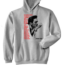 JOHNNY CASH 2 - NEW COTTON GREY HOODIE - ALL SIZES IN STOCK - $40.47