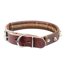Leather Padded Dog Collar The CAILLU-Luxury Real Leather Padded Dog Coll... - $19.55