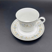 Fine China of Japan Tea Footed Cup and Saucer Set of 2 Sherwood Pattern - $5.00