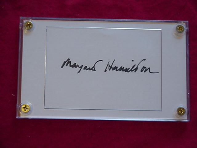 MARGRET HAMILTON Authentic Signed 3x5 Signature Cut w/Certificate of Authenticit - $145.00