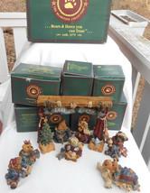 Boyds Bears Nativity Set 8 Pc Stage Mary Joseph Jesus Creche Christmas Bearstone - $148.09