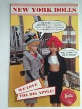 Barbie VTG Postcard Barbie Doll Collector Christmas New York Big Apple Z21 - $11.63