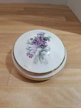 """Limoges France 5"""" Powder Jar Trinket Box Floral  - $16.82"""