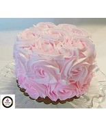 "Dezicakes Fake Cake 6"" Pretty Pink Rosette Smash Cake- fake unedible prop - $19.79"